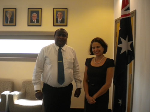 Mr. Ajith Wattuhewa, President FCCISL and Her Excellency Robyn Mudie   the High Commissioner of Australia in Sri Lanka