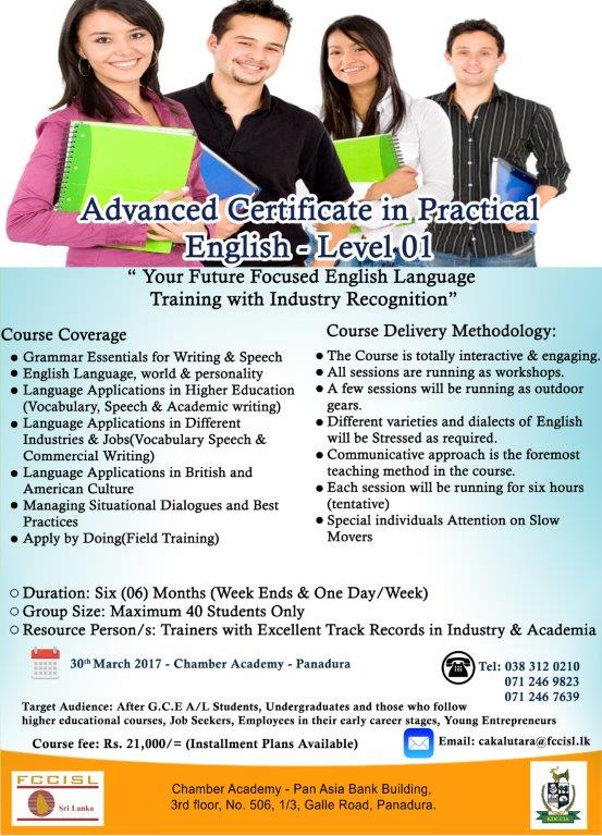 Advance Certificate in Practical English - Level 01
