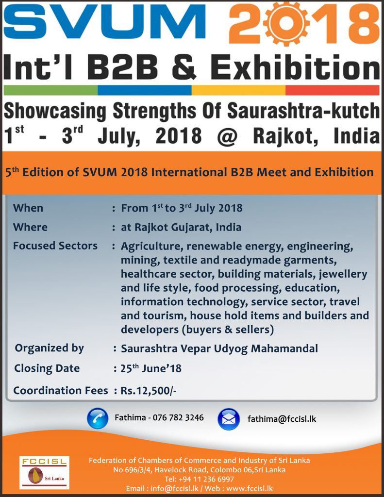 Flyer - 5th Edition of SVUM 2018 International B2B Meet and Exhibition(Fathima)